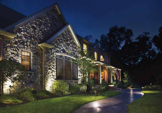Landscape Lighting | Flag House